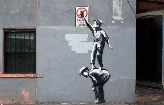 banksy graffiti crime